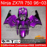 ingrosso kit corporeo zx7r-Corpo per KAWASAKI NINJA ZX-750 ZX-7R ZX750 ZX 7R 00 01 02 03 28HC.116 ZX 7 R ZX 750 ZX7R 1996 2000 2001 2002 viola caldo tutto il kit carenatura 2003
