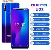 Wholesale dark camera resale online - OUKITEL U23 quot FHD Screen MTK6763T Helio P23 Octa Core GB GB MP MP Dual Camera OTG Android Face ID Touch ID Mobile Phone