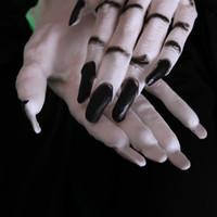 ingrosso decorazione cosplay-Guanti di Halloween orribile scheletro Osso della barretta fantasma Artiglio Stampato manica corta Ognissanti Spaventoso Cosplay Decor