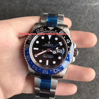 Wholesale batman for sale - 3 Style Top Quality V5 Version mm GMT Batman LN blnr Ceramic Asia Movement Automatic Mens Watch Watches