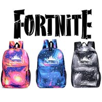 Wholesale Fashion D Fortnite Battle Royale School Bag New Cartoon game fortnite Starry sky Backpacks Backpack