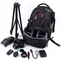 Wholesale waterproof shockproof laptops resale online - Professional Backpack Photography Package SLR Camera Laptop Bag Waterproof Shockproof Bag nylon case With detachable layers