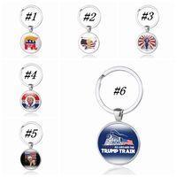 2020 REELECT Trump Keyring Time Gem Keys Chain US Flag Pendant Key Buckle Fashion Keychain ZZA1753