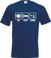 fotos divertidas venda por atacado-Brand New 2018 Foto T Shirt Dos Homens Do Verão Dormir Lápis Canalizador T Shirt Encantador Canalizador Presentes Diy Tee