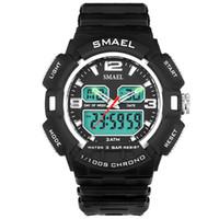homens relógios china marca venda por atacado-China fornecedor marca relógio criativo styling ponteiro dupla exibição estudante assistir esportes ao ar livre relógio à prova d 'água dos homens