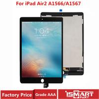 ingrosso pannelli di visualizzazione lcd-Testato per iPad Assemblea aria 2 LCD per iPad 6 A1567 A1566 Display Lcd con Touch Screen del pannello digitalizzatore sostituzione