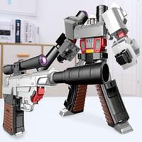 Wholesale toys robot gun resale online - Deformation toy diamond alloy version robot pistol model children s toy