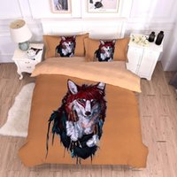 Wholesale wolf bedding sets resale online - BEST WENSD Thick bed comforter D Quilt set Pillowcases India Wolf comforter bedding Comfortable four piece set