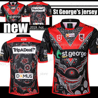 drachen trikot großhandel-19 20 St George Illawarra XBLADES DRAGONS Heroic Ausgabe RUGBY JERSEY 2019 2020 National Rugby League St George Jersey Shirts