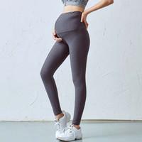 Wholesale pants for maternity resale online - Pregnant women yoga pants pregnant women high waist women pants elastic V waist running fitness sports trousers for pregnant leggin
