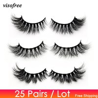 68a2e8c5c43 Visofree 25 pairs lot Eyelashes 3D Mink Lashes Handmade Dramatic Lashes Mink  Collection Full Volume False Eyelash Makeup cilios
