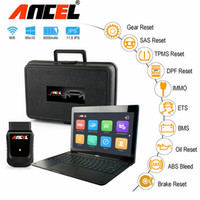 Wholesale wifi obd2 connector resale online - Ancel X5 Pros Wifi Full System Diagnostic Tool OBD2 Tablet Scanner with Keyboard