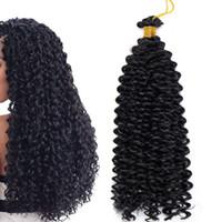 Wholesale afro curl braiding hair resale online - Marlybob Synthetic Crochet Braiding Hair Marlibob Water Wave Twist Crochet Hair Braids Afro Dreadlocks Kinky Curl Hair Bundles for Black Wom