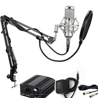 Wholesale BM Studio Broadcasting Recording Condenser Microphone NW35 Adjustable Suspension Scissor Arm Stand Mounting Clamp Kit