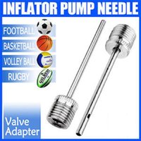 şişirme topu toptan satış-Top Şişirme Pompası İğne Futbol / Rugby / Voleybol / Netball Vana Adaptörü Yeni ve Sıcak Satış 150 adet ücretsiz kargo