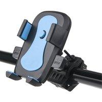 phone holder bicycle toptan satış-Dağı bisiklet motosiklet telefon tutucu Evrensel 360 Rotasyon bisiklet telefon tutucu destek cep telefonu moto