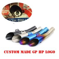 Wholesale moto gp bikes for sale - Group buy 51mm Motorcycle Exhaust HP GP Pipe DB Killer Muffler Escape Moto Modified For Akrapovic Z750 MT03 ER6N Bike Scooter