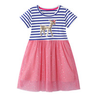Wholesale summer clothing sale for kids for sale - Group buy Kids Dress Jersey Baby Girl Dress Hot Sale Cotton Dresses for Kids Clothing Baby Girl Clothes