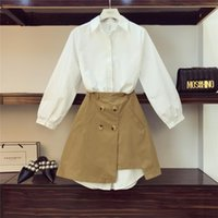 48119941441 Discount open breast shirts - 2019 Spring Women  039 s Long White Shirt  Dress