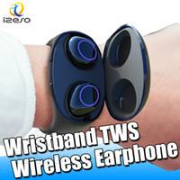 смарт-гарнитура ежевики оптовых-Двойное ухо Bluetooth-гарнитура Sport Wireless ture стерео наушники мини-наушники для iPhone XR Smart Headset с розничной упаковкой izeso