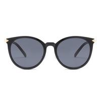 sonnenbrillen goldene pfeile groihandel-New auffällige goldene kleine Pfeil polarisierte Sonnenbrille Stern Retro Sonnenbrille Männer und Frauen Persönlichkeit rundes Gesicht Brille