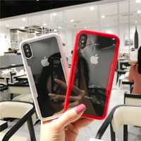 Wholesale chinese phone simple resale online - Simple For XiaoMi x SE mobile phone shell Max Mix s simulation glass transparent full wrestling protection case