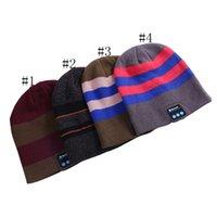 ingrosso auricolari a sfera-Wireless Bluetooth cappelli a righe Cappellino invernale sport esterno di Beanie Bluetooth Auricolare Cap sfera di musica per cuffie Caps GGA2902