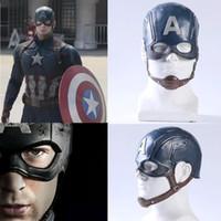 Wholesale helmets america resale online - Movie Captain America Civil War Captain America Mask Cosplay Steven Rogers Superhero Latex Helmet Halloween For Men Party Prop
