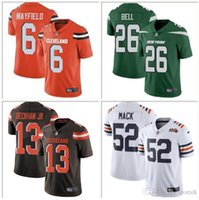 Wholesale ch jerseys resale online - Mens Youth Baker Mayfield Jersey Odell Beckham Jr Khalil Mack Le Veon Bell Jamal Adams Sam Darnold NY Team football jerseys official ch