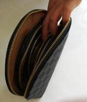 todos los regalos al por mayor-Copo de nieve 4 unid marca de moda estuche de cosméticos bolsa de organizador de maquillaje de lujo aseo de tocador bolsa de lavado bolso de embrague tote boutique VIP regalo totalidades