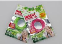 pulseira anti mosquitos venda por atacado-10 PCS Misturar cores Anti-Mosquito Repelente Pulseira Anti Mosquito Bug Repelir Repelente de Pulso Banda Pulseira Repelente de Insetos Mozzie Manter os Erros