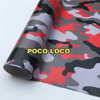 vinyl-aufkleber-design für autos großhandel-Lager Red Tiger Camouflage Vinyl Wrap abnehmbar Einzigartige Designs, ehrliche Preise für Auto, LKW, Van, Trailer Wraps