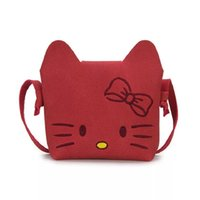 Wholesale kitty messenger bags for sale - Fashion Children Cute Cat Messenger Bag Girl Hello Kitty Pattern Mini Women Shoulder Bags Princess Baby Bag