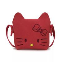 26fdbe34b8 Moda bambini Cute Cat Messenger Bag Girl Hello Kitty Pattern Mini Donne  Borse a tracolla Princess Baby Bag
