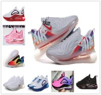logotipos de zapatos para correr al por mayor-nbspNike Air nbspMax 720 zapatos para correr para hombre mujer Rainbow color big air logo zapatos de entrenamiento max 72c exterior zapatillas de deporte tamaño 36-45