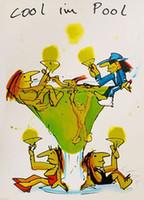 serin resim toptan satış-Udo Lindenberg SOĞUK IM HAVUZ Ev Dekorasyonu Handpainted HD Yağ Tuval Wall Art Canvas Pictures 191218 On Boyama yazdır