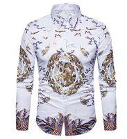 camisas de vestir oxford para hombre al por mayor-Mens manga larga Oxford trajes formales casuales Slim Fit Tee camisas de vestir blusa Top camisas de hombre de manga larga
