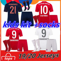 Wholesale children soccer jerseys resale online - FC Bayern Munich Kids Kit socks COUTINHO PERISIC LEWANDOWSKI soccer Jersey home away third MULLER Child Shirts uniform