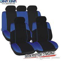 couvre-siège bleu achat en gros de-DinnXinn 110272F9 Mercedes 9 pièces siège complet jeu de voiture en cuir de luxe sandwich couvertures Grossiste de Chine