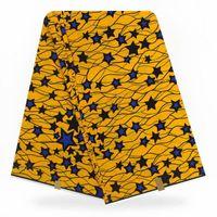 motifs de broderie perle gratuit achat en gros de-Imprimé à la cire africaine motif Ankara pour robes Tissu 100% coton véritable imprimé à la cire de java Nigeria Ankara 6yard / lot TX07