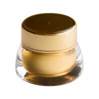 acryl kosmetiktöpfe großhandel-10 stücke 7g 7 ml Leere Kosmetische Dose Topf Reise Tragbare Augencreme Make-Up Gesichtscreme Container Flasche Gold Acryl Kosmetische ...