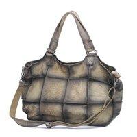 большие женские сумки неподдельной кожи оптовых- handbags women bags designer Genuine Leather Large Shoulder Casual Totes Big Size Pure Skin Soft Plaid Crossbody Bags