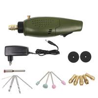 ingrosso mini drill dremel elettrico-Mini Electric mini trapano multifunzione macchina per incidere elettrico Tool Kit 12000rpm per kit Dremel incisore mini kit trapano