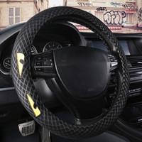 ingrosso ruote auto di bmw-Coprivolante cucito a mano in vera pelle Car Interior Styling decorazione accessori coprivolante punto BMW vendita calda
