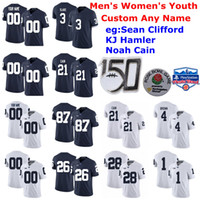 Wholesale trace mcsorley jersey for sale - Group buy Penn State Nittany Lions College Football Jerseys Kids Youth Johnson Jr Jersey Lamont Wade Gross Matos Trace McSorley Blue Custom Stitched