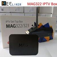 usb 265 venda por atacado-Nova caixa de topo MAG322 IPTV SET com antena USB wi-fi streaming de sistema Linux internet HDMI HD media player H.265 STB MAG 322