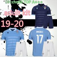 Wholesale maillot foot short resale online - 19 Lazio kit men soccer jersey football shirt LUIS ALBERTO camiseta de fútbol IMMOBILE SERGEJ maillot de foot maglia da calcio
