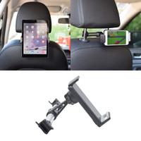 tablet için gps araba montajı toptan satış-Evrensel Alaşım Araba Arka Koltuk 4-11 inç Akıllı Telefon Tablet Tutucu Braketi Dağı Drop Shipping Destek