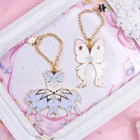 Wholesale anime wand for sale - Group buy Cospaly Keychain Anime Card Captor Cardcaptor Sakura Clear Cards Dream Wand Car Bag Keyring Holder Gift