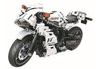 ingrosso blocchi di costruzione bianchi-Technic Series White Racing Moto Building Blocks Mattoni fai da te Giocattoli 716 pezzi